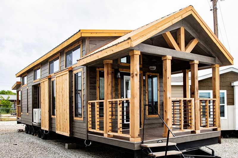 Brown Mobile Home