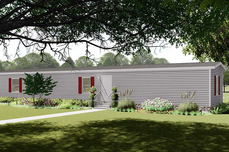 Light Grey Mobile Home in the Country