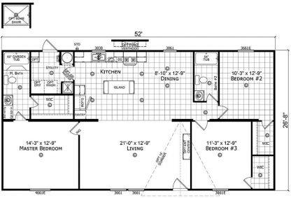 Champion RM 28562B Mobile Home Floorplan