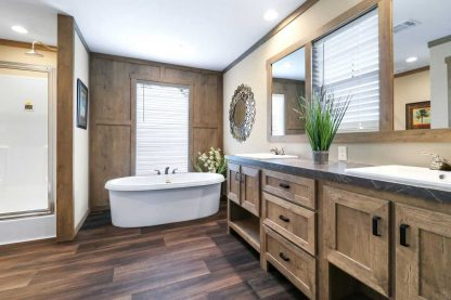 Clayton Athens Fletcher Double Wide Mobile Home Bathroom Wide View