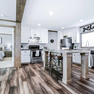Clayton Athens Fletcher Double Wide Mobile Home Kitchen