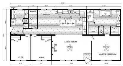 Deer Valley Zemira Mobile Home Floorplan